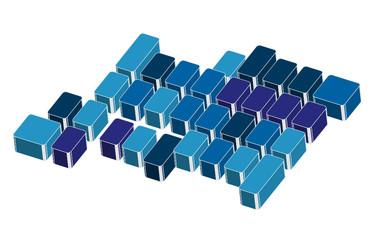 slogan blu con bordi grigi