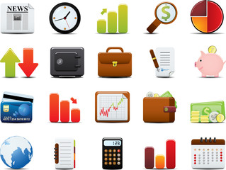 Finance Icon Set. Easy To Edit Vector Image.