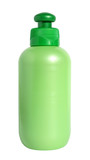 Bottle with cosmetic means for a white background. poster