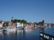 Leinwandbild Motiv Hafen von Kappeln im Mai