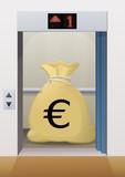 Ascenseur et charges en euro poster