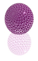 purple glass ball