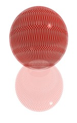 red pattern ball