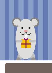 raton perez trayendo un regalo a un niño