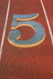 Number Five on a Running Lane