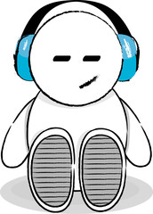 Happy... listening to some music