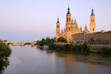 View of Pilar's Cathedral and Ebro river, Saragossa, Spain