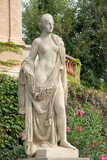 Statue at Palau Reial de Pedralbes in Barcelona Spain poster