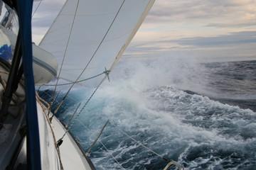 Orkan auf dem Mittelmeer