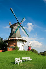 twin mills in Greetsiel-Germany