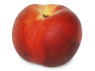 Peach Isolated with Clipping Path