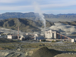 Mountain-extracting combine