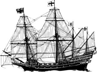 schiff segelschiff vektor
