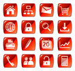 Web icons, buttons. Red series
