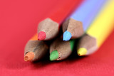 Close-up picture of sharp pencils. poster