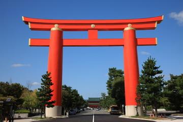huge torii gate in Kyoto
