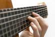 Guitar player's left hand