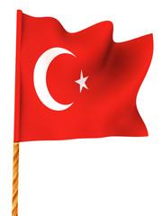 Flag. Turkey.  3d