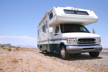 Motorhome RV in Desert