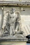 Statue de la Victoire sur le pont des Invalides, Paris poster