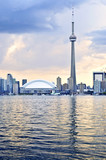 Scenic view at Toronto city waterfront skyline at sunset - Fine Art prints