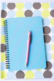 Bright coloured stationery poster