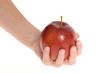 apple in woman hand