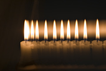 Multiple exposures of a candle flame