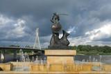 Warsaw's mermaid - Syrenka and Swietokrzyski Bridge - 9740300