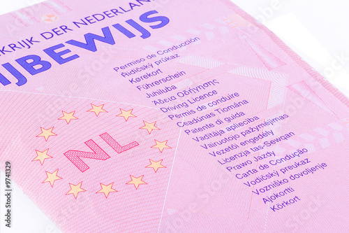 Dutch drivers license with indication in many languages.
