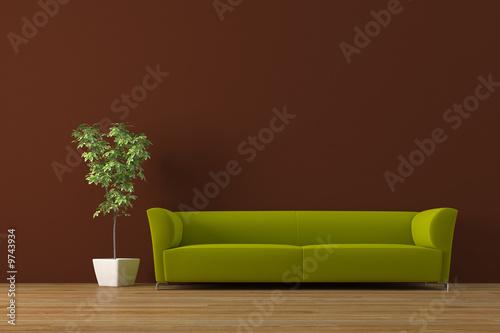Nowoczesne wnętrze z sofą