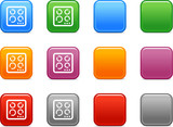 Color buttons with stove icon poster