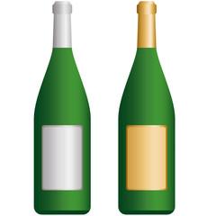 Gold- und Silberflasche