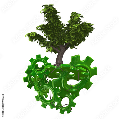 3d gears with tree on these