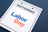 Labor Day, calendar date for background poster