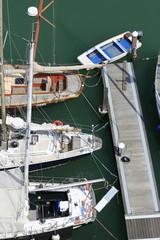 voiliers sur le port de Venise