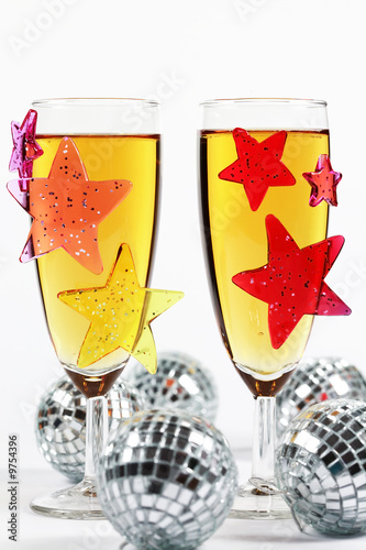 Two classes of champagne for New Year or other event