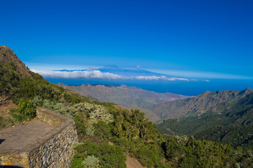View from La Gomera, Canary, Islands, Spain with Tenerife in the