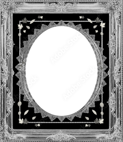 Sliver Vintage Ornate Frame - with isolated clipping path