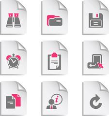 Gray document web icon, set 3