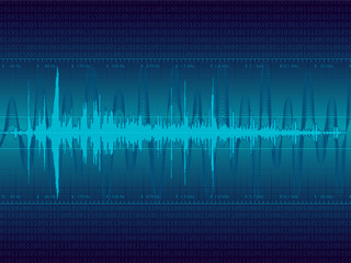 Audio Waveform vector background
