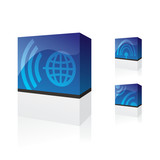 telecommunication products boxes poster