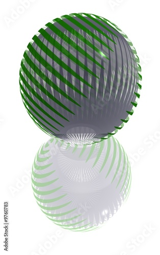 green striped ball