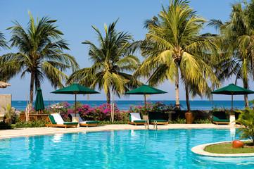 beautiful swimming pool near the beach