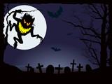 Halloween demonic nightmare poster