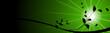 vector serie - gardening, black plant vith green sun
