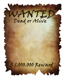 old wanted paper: wanted dead or alive poster