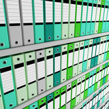 image 3d of archive folder background poster