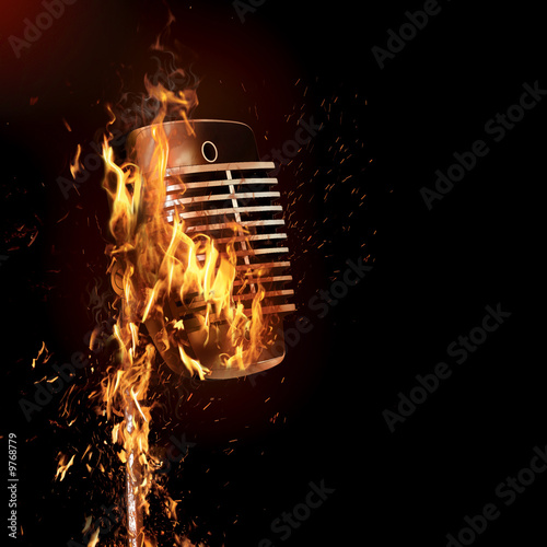 Burning microphone