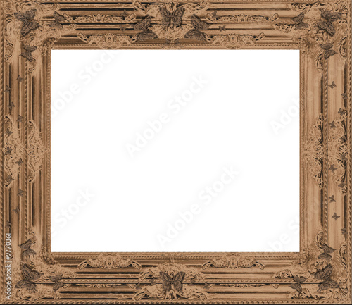 Vintage Ornate Antique Frame. Isolated Clipping Path
